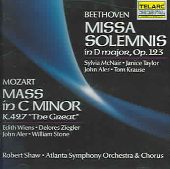 MOZART:MASS/BEETHOVEN:MISSA SOLEMNI BY SHAW/ASO (CD)